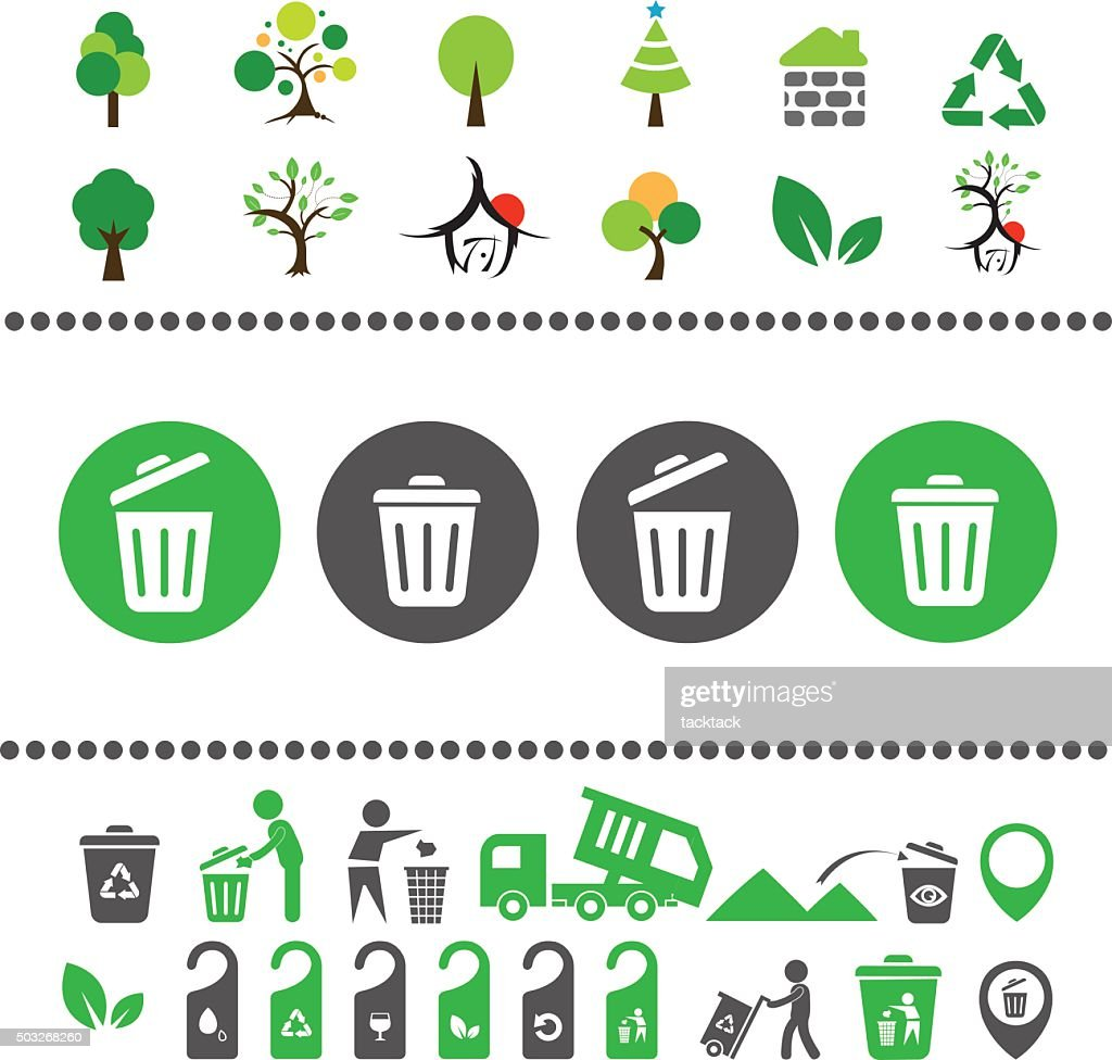 recycling bin and arrow icon