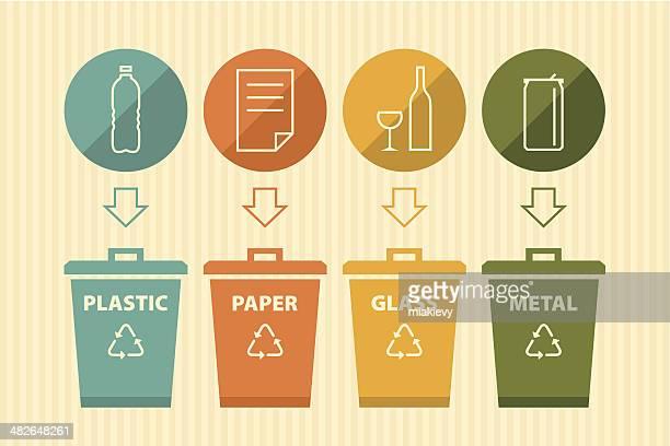 recycling bin - plastic stock illustrations
