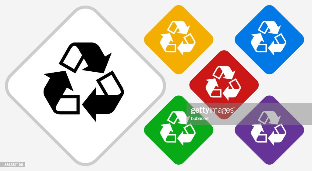 Recycling Color Diamond Vector Icon Art