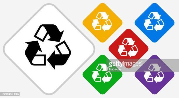 Recycling Color Diamond Vector Icon