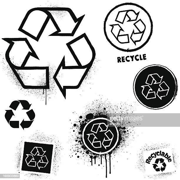 Recycling graffiti icons