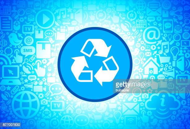 Recycling   Icon on Internet Technology Background
