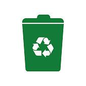 Recycling icon symbol vector.