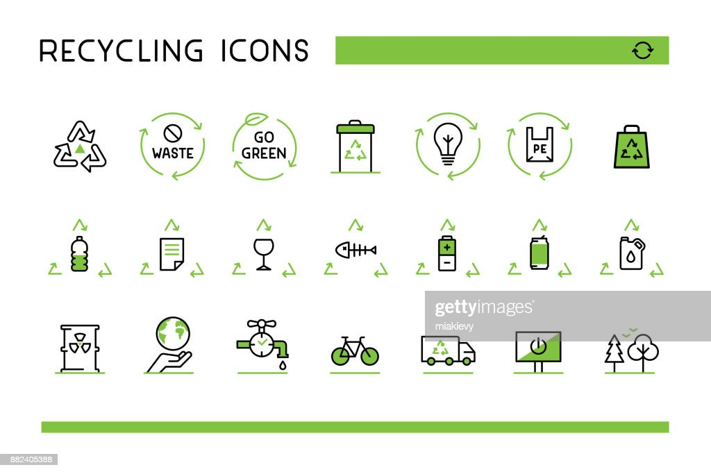 Recycling icons