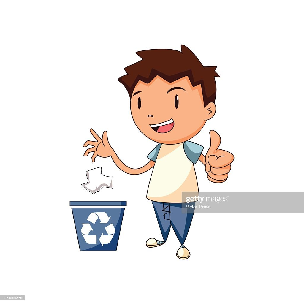 Recycling paper, vector illustration