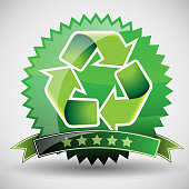 Recycling Symbol - Green Layout