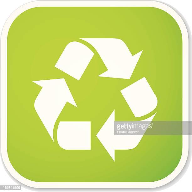 Símbolo de reciclaje metros cuadrados/Adhesivo