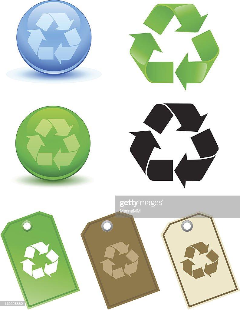 Recycling Symbol : stock illustration