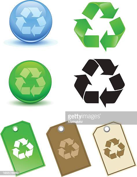 recycling symbol - labeling stock illustrations, clip art, cartoons, & icons