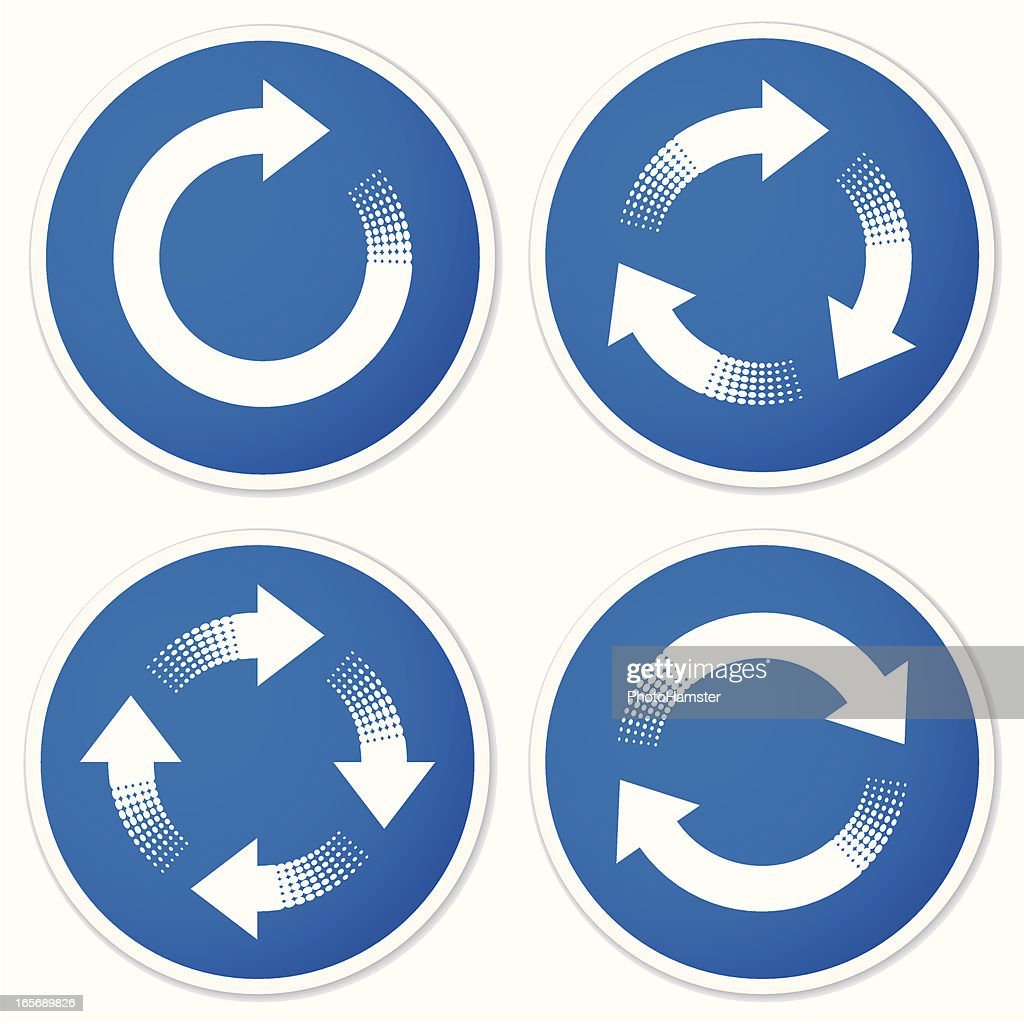 Recycling symbols or refresh arrows stickers vector art getty images recycling symbols or refresh arrows stickers vector art buycottarizona Image collections