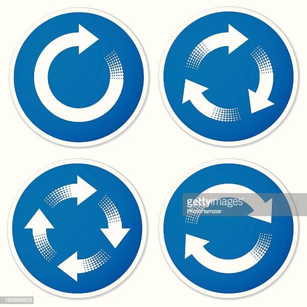 recycling Symbole oder tanken Sie neue Energie Pfeil Aufkleber