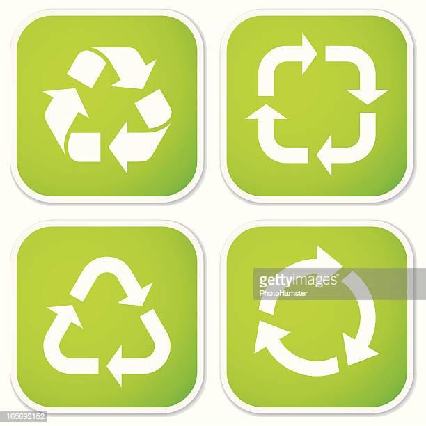 Pegatinas de símbolos de reciclaje