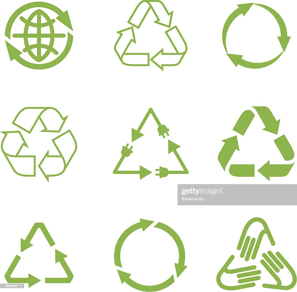 Recycling symbols vector art getty images recycling symbols vector art buycottarizona Image collections