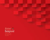Red abstract background vector.
