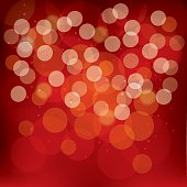 Red Abstract Bokeh Background