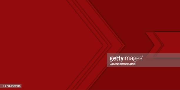 illustrazioni stock, clip art, cartoni animati e icone di tendenza di sfondo vettoriale astratto rosso - presentazione con slide