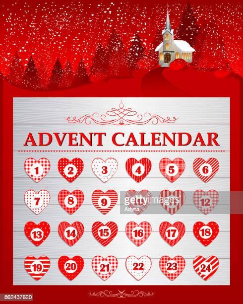 Red Advent Calendar