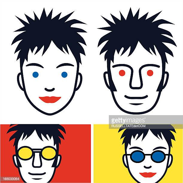 red & yellow kids - spiked stock illustrations, clip art, cartoons, & icons