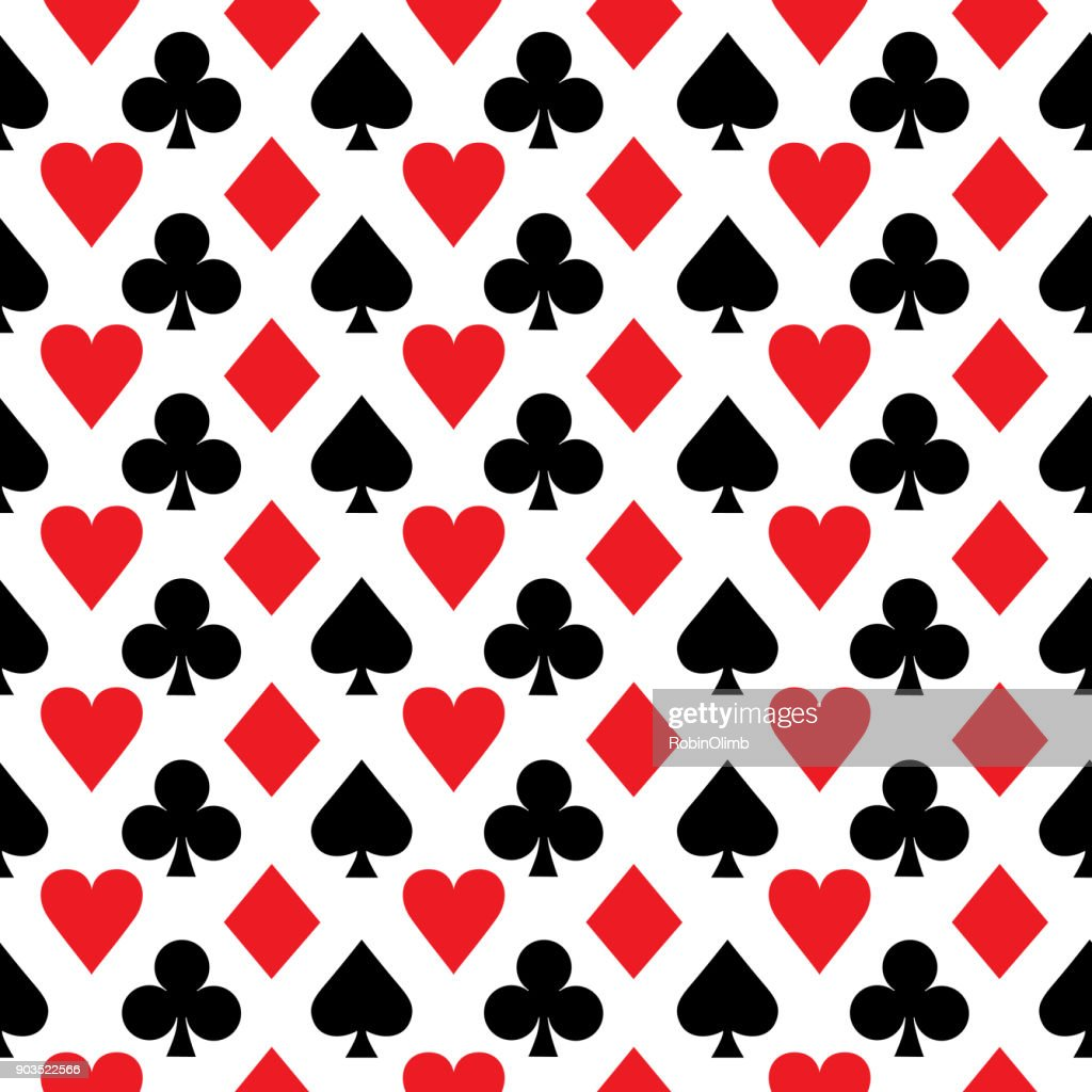 Red And Black Aces Seamless Pattern : Stock Illustration