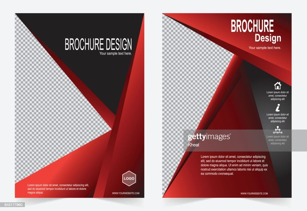 Red And Black Brochure Template Flyer Design Abstract Template For