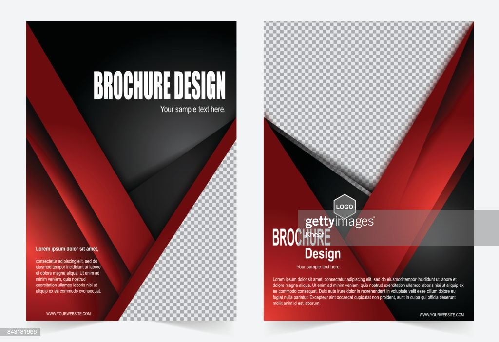 Red And Black Brochure Template Flyer Design Vector Art Getty Images