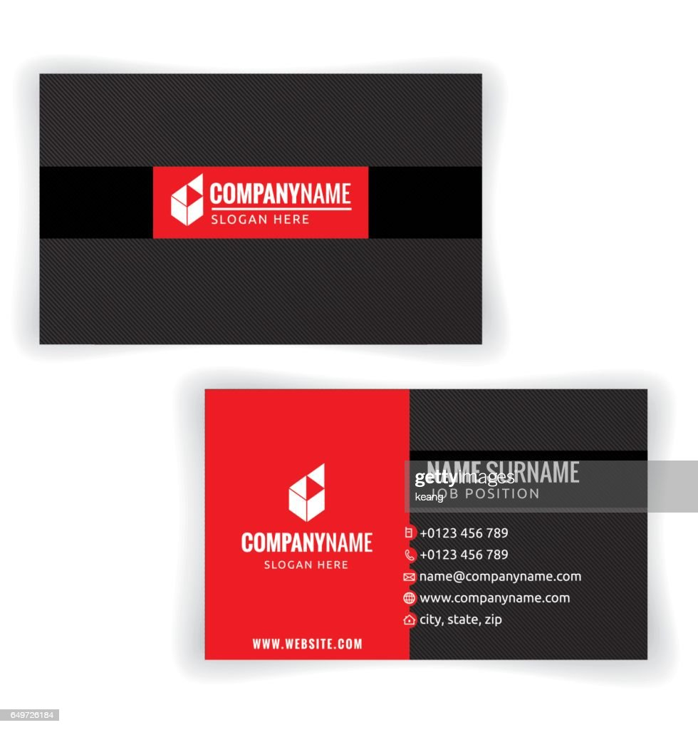 Red and Black Business card template.
