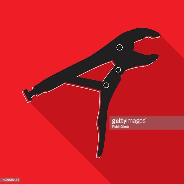 Alicate vermelho e preto ícone de bloqueio