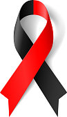 Red and black ribbon