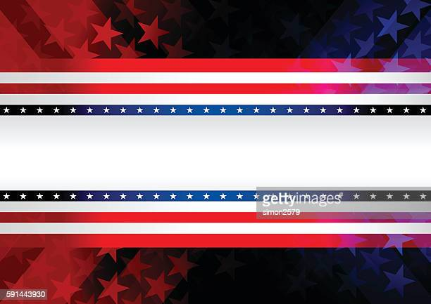 red and blue rising star background - red and blue background stock illustrations