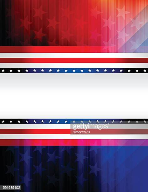 red and blue rising star background - red white blue background stock illustrations
