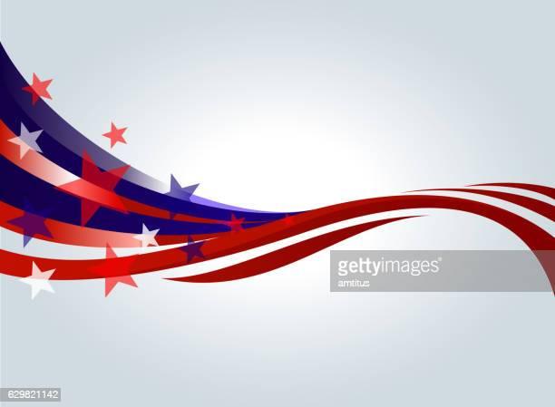 red and blue stars - patriotism stock illustrations