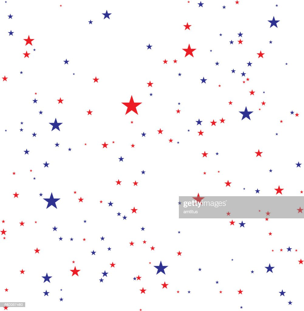 red and blue stars : stock illustration