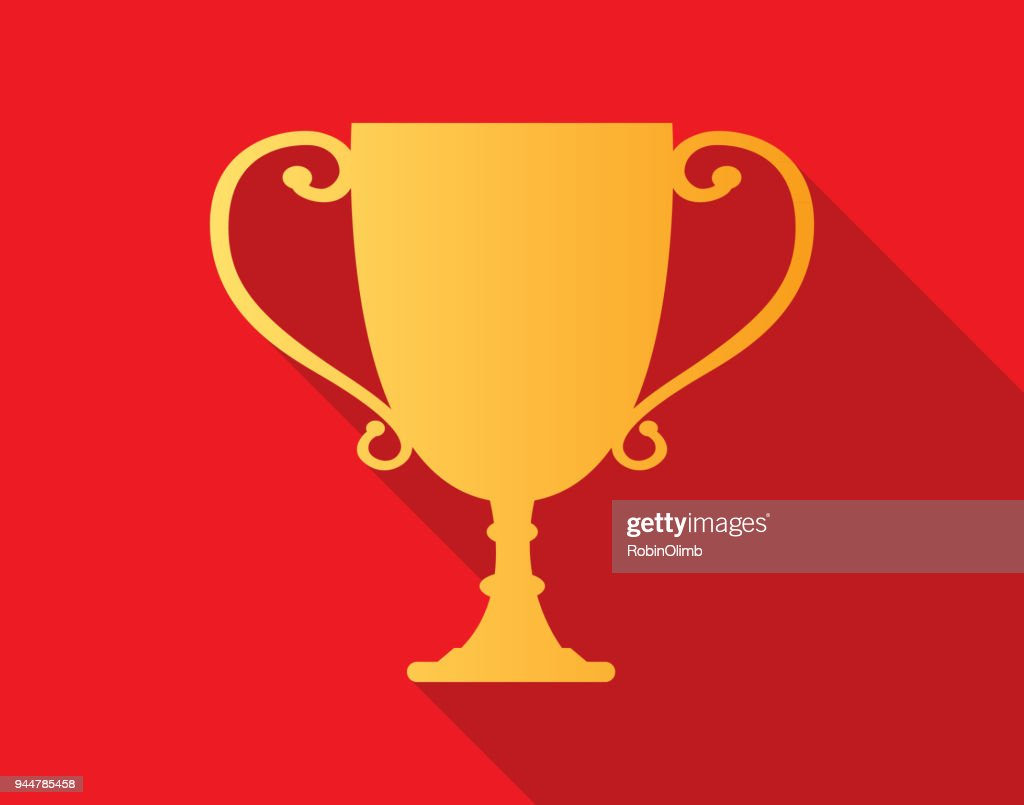 Red And Gold Trophy Icon 1 : Stock Illustration