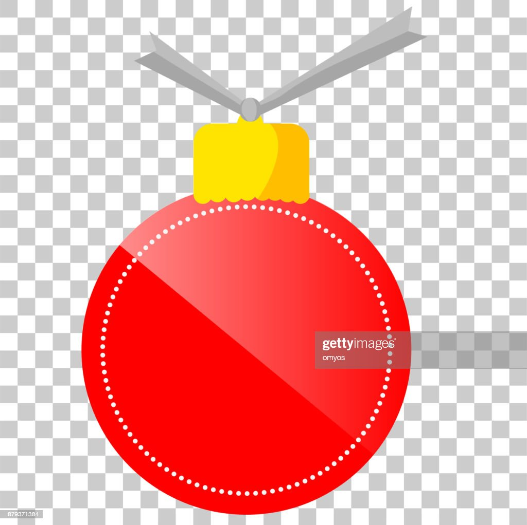 Rot Und Golden Leuchtenden Leere Tag Weihnachten Kugel Form Im ...