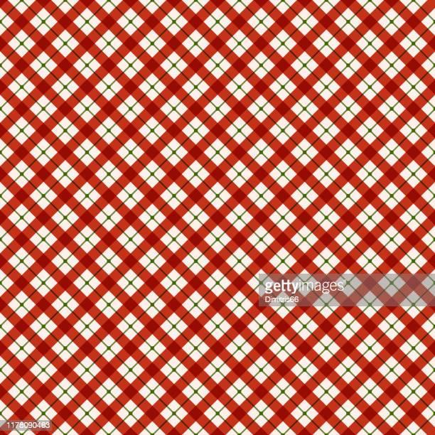 赤と緑のチェッカーシームレスなパターンの背景 - アーガイル模様点のイラスト素材/クリップアート素材/マンガ素材/アイコン素材
