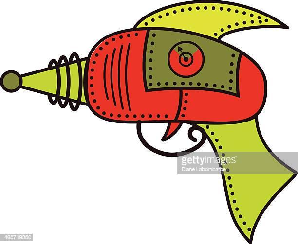 Vermelho e verde futuro brinquedo Ray arma com Designs