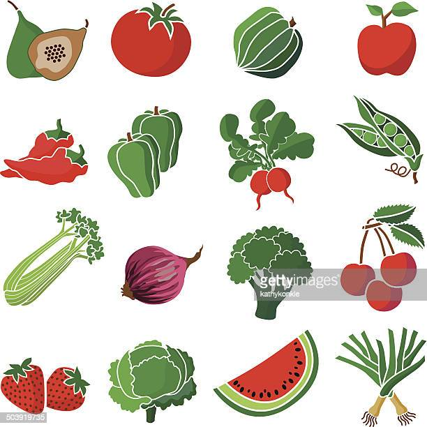 red and green produce