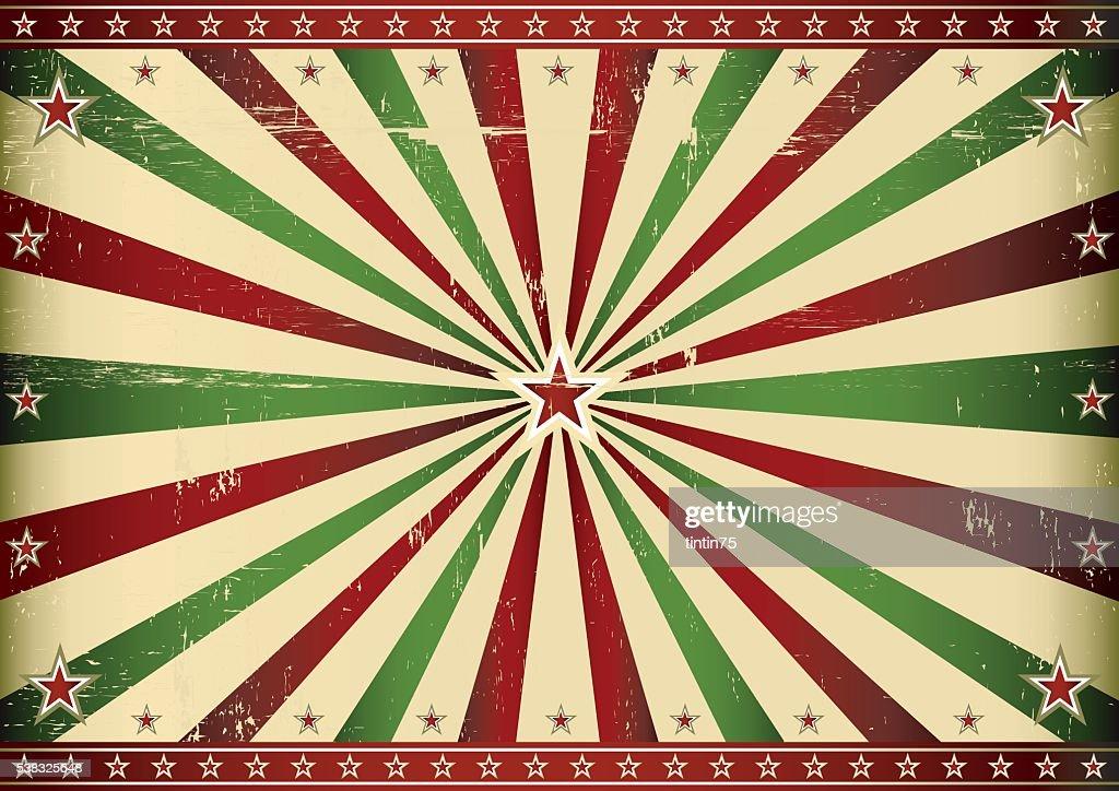 Red and green retro sunbeam