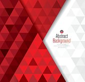 Red and white abstract background vector.