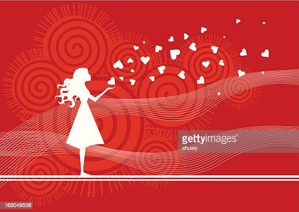 ilustraciones, imágenes clip art, dibujos animados e iconos de stock de el amor está en el aire - chuwy