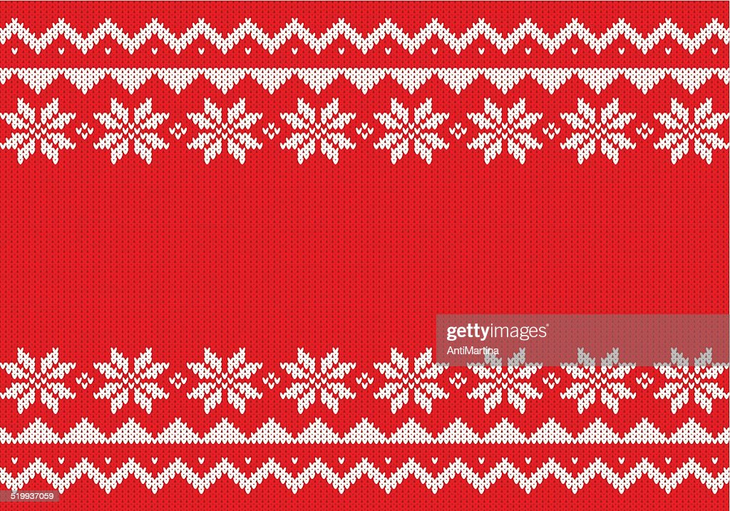 red and white knitted background