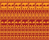 Red and yellow eagle-themed background pattern