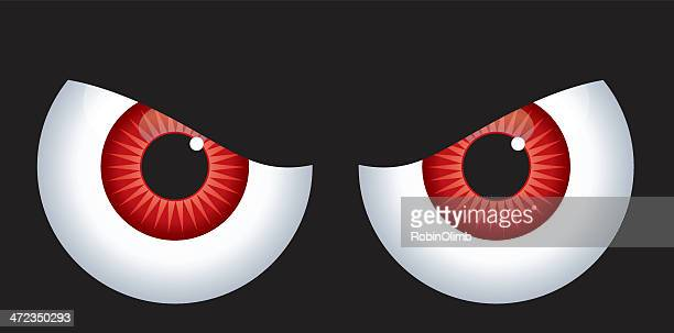 red angry eyes - blink stock illustrations, clip art, cartoons, & icons