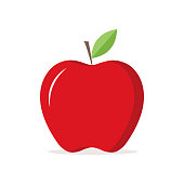 Red Apple Illustration Icon Vector