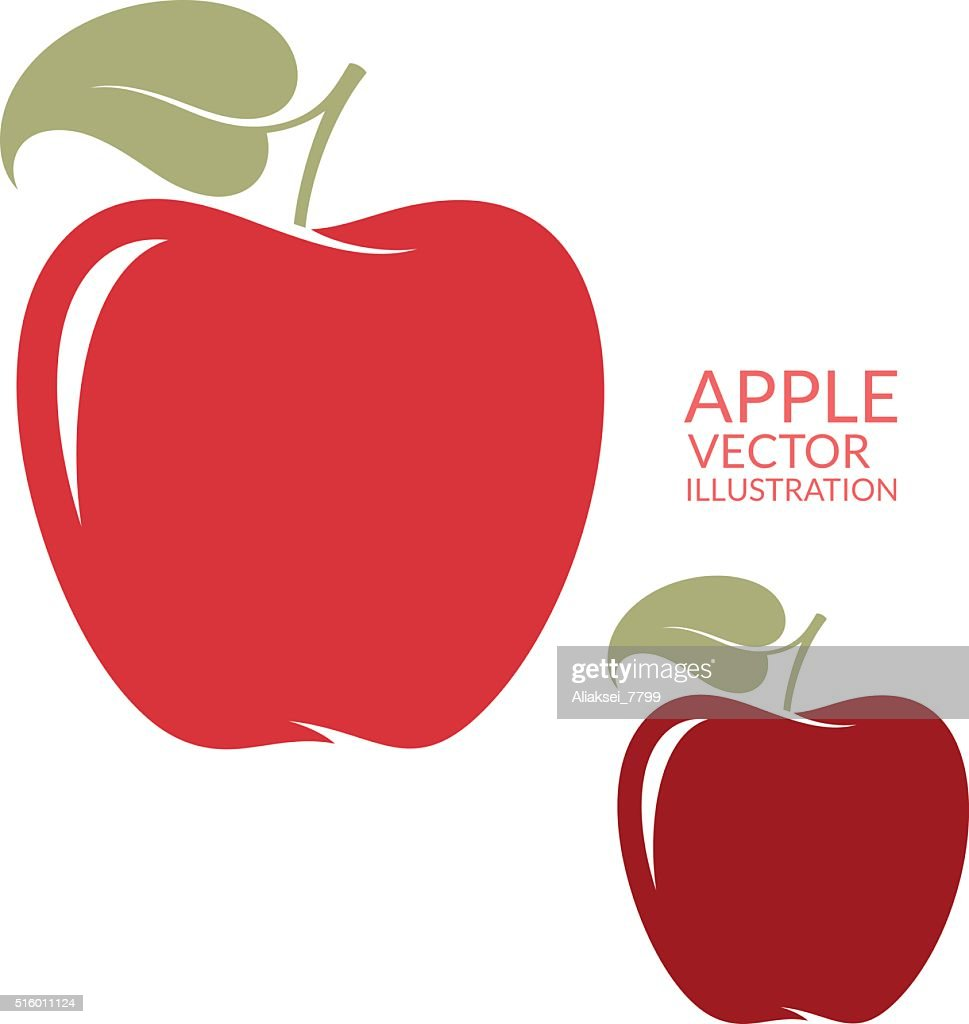 Red  apple. Isolated fruit on white background