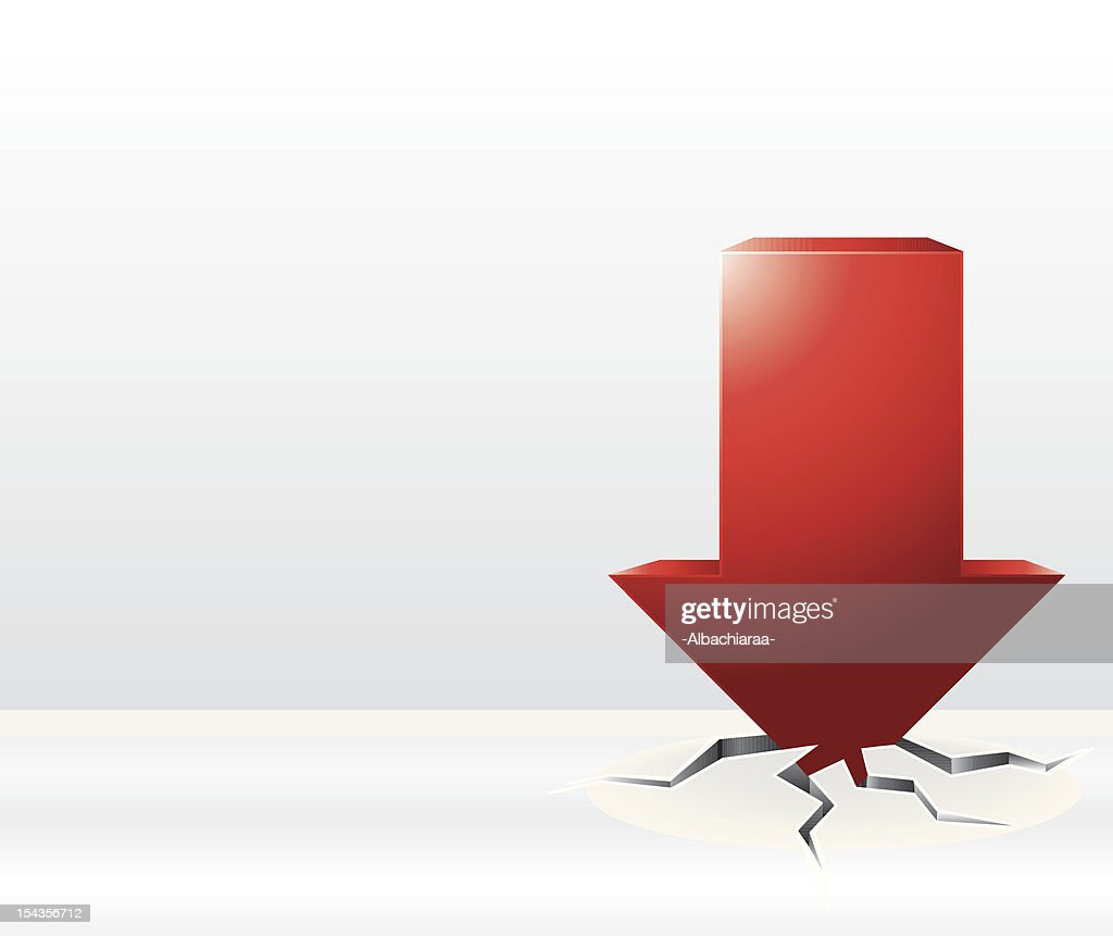 3D red arrow crash illustration