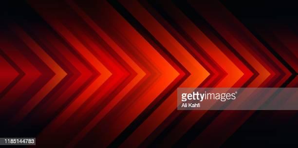 ilustrações de stock, clip art, desenhos animados e ícones de red arrow head abstract background - vermelho