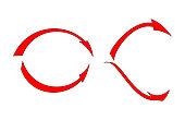 Red arrows set - Vector