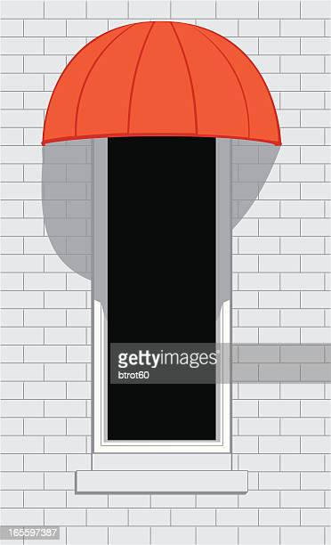 red awning - awning stock illustrations, clip art, cartoons, & icons