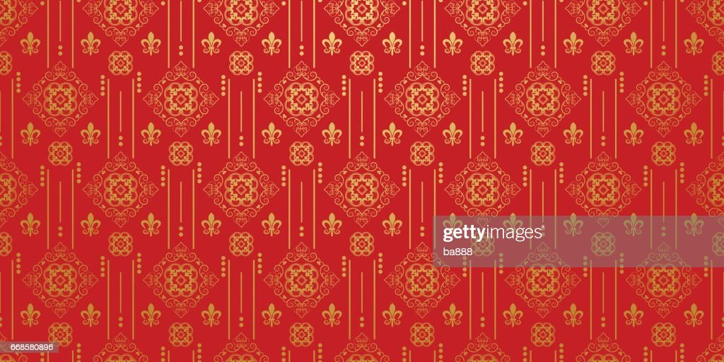 Red background. Chinese and Japanese style